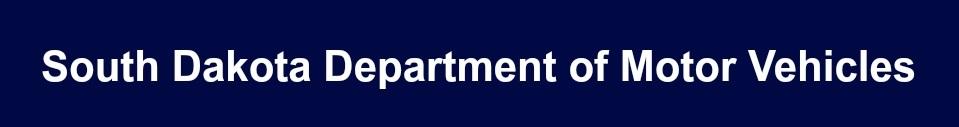 South Dakota Department of Motor Vehicles